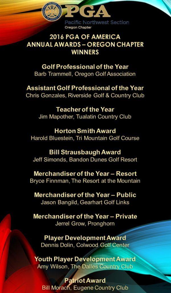 2016 OPGA Annual Award Winners