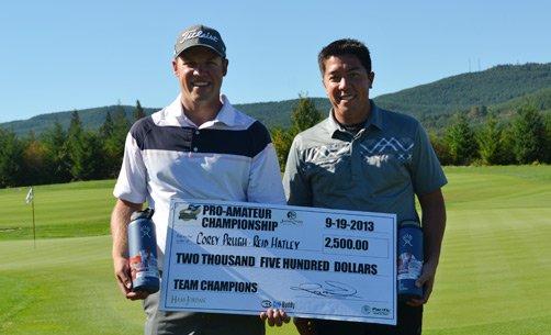 Winners Corey Prugh and Reid Hatley
