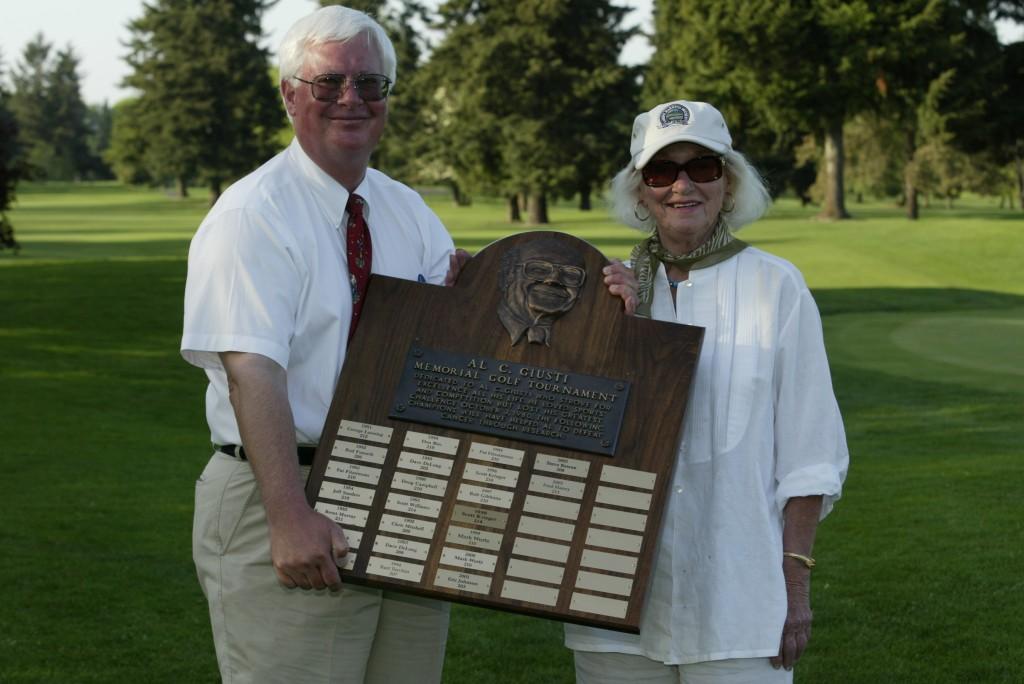 Larry (son) and Jeanette at the 2004 Al C. Giusti  Memorial Invitational