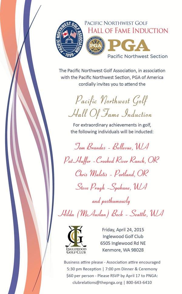 PNW Golf Hall of Fame Induction Ceremony @ Inglewood GC