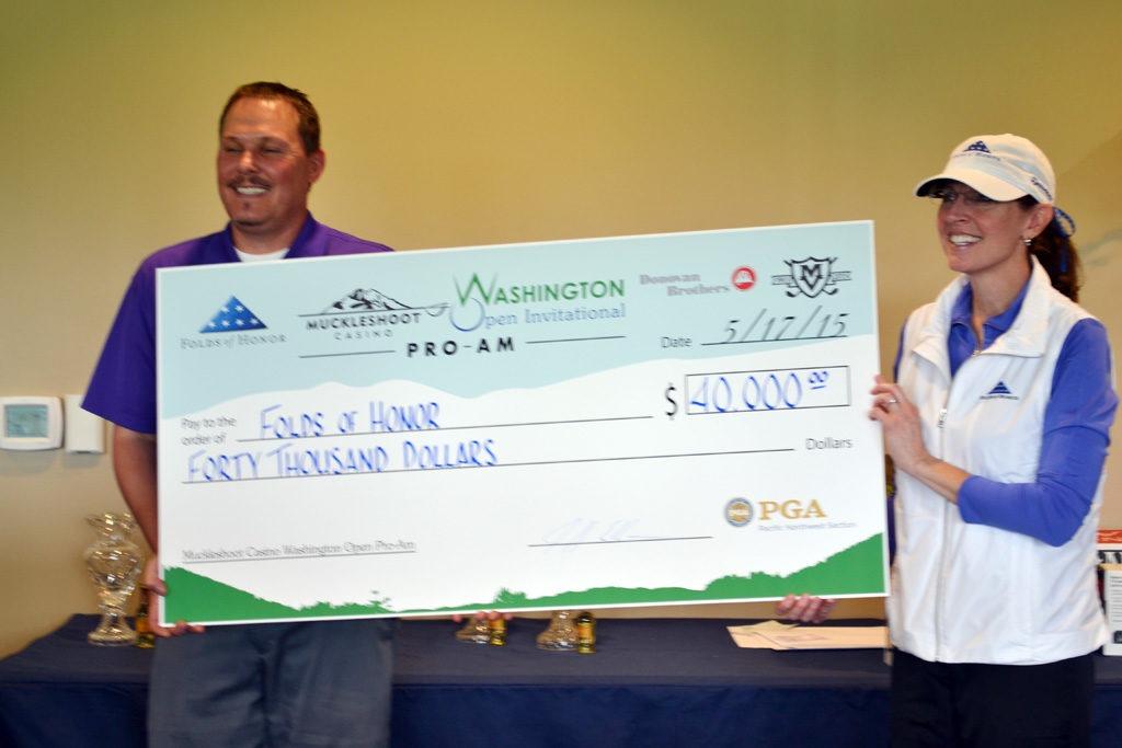Muckleshoot Casino Washington Open Pro-Am raised $40,000 for Folds of Honor