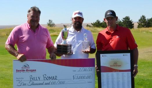 2Undr Sponsor Kevin Burnett, Champion Billy Bomar,  Wildhorse Assistant PGA Pro Clint Ables