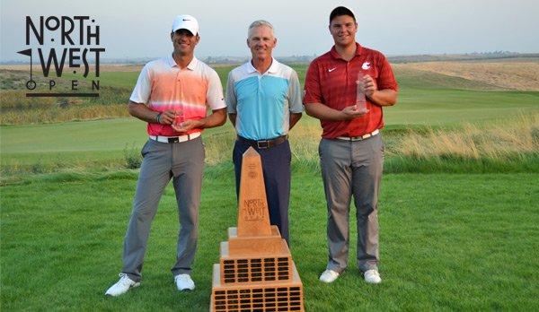 Derek Barron – winner; John Thorsnes, Wine Valley Director of Golf; Derek Bayley – low amateur