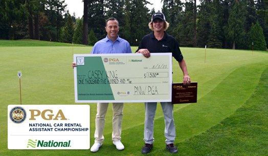 Host Head PGA Professional Sean Fredrickson and Champion Casey King