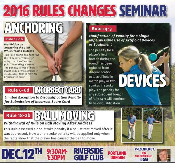 USGA 2016 Rules Changes Seminar @ Riverside G&CC