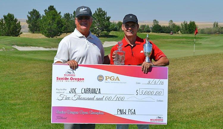 PGA Host Professional Mike Hegarty and 2016 Champion PGA Professional Joe Carranza.