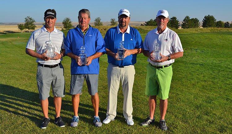 Team Champions PGA Professional Roger Wallace with amateurs John Kelley, Dave Cottington and Steve Lucas.