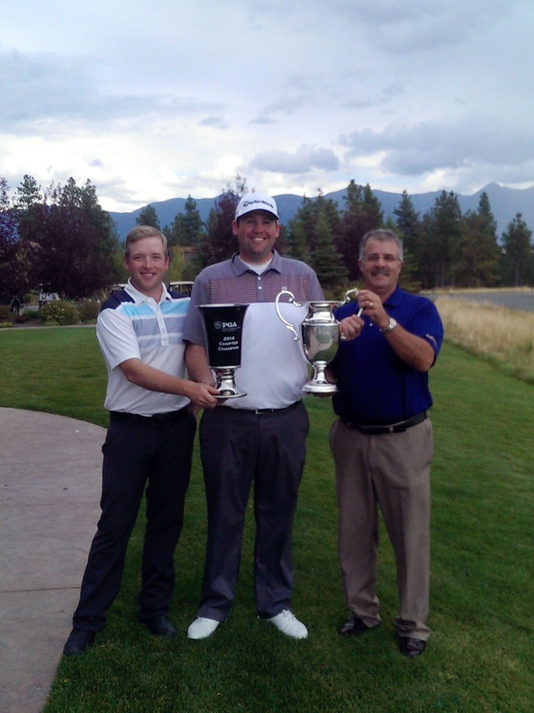 Host Professional Adam Long, Champion Connor Sproul with Jeff Ellison