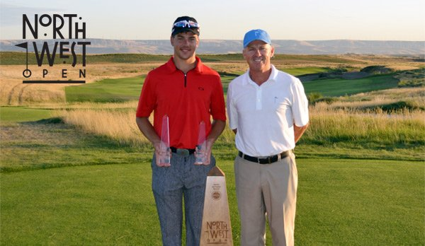 Champion Carl Jonson and Host Pro John Thorsnes, PGA
