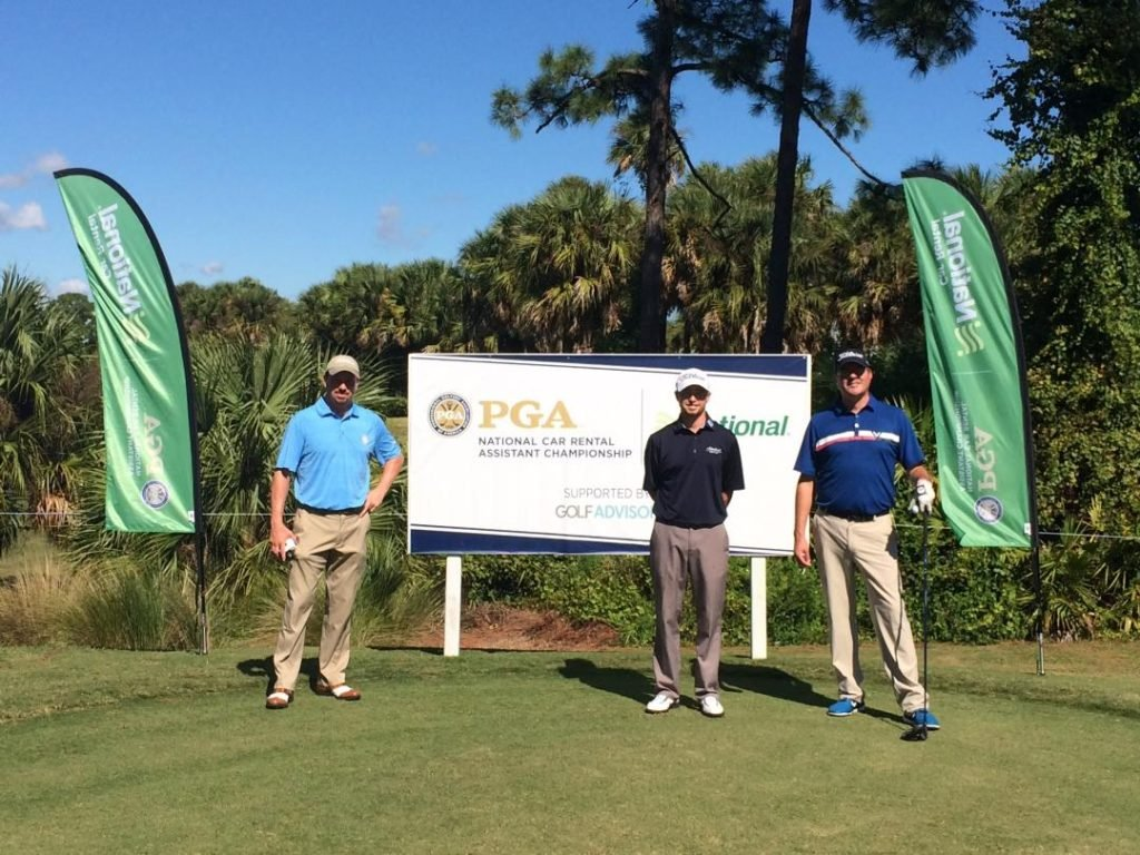 Ryan Malby, John Cassidy and Chris Lisk at the PGA Golf Club in Port St. Lucie, FL