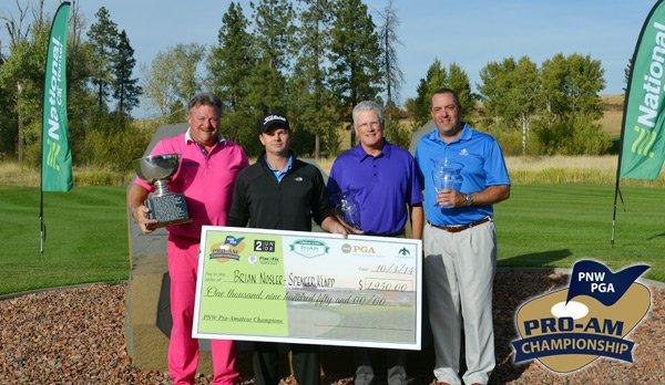 2 Undr Sponsor Kevin Burnett, PGA Professional Brian Nosler, amateur Spencer Klapp, and Host PGA Professional Tony Cuchessi