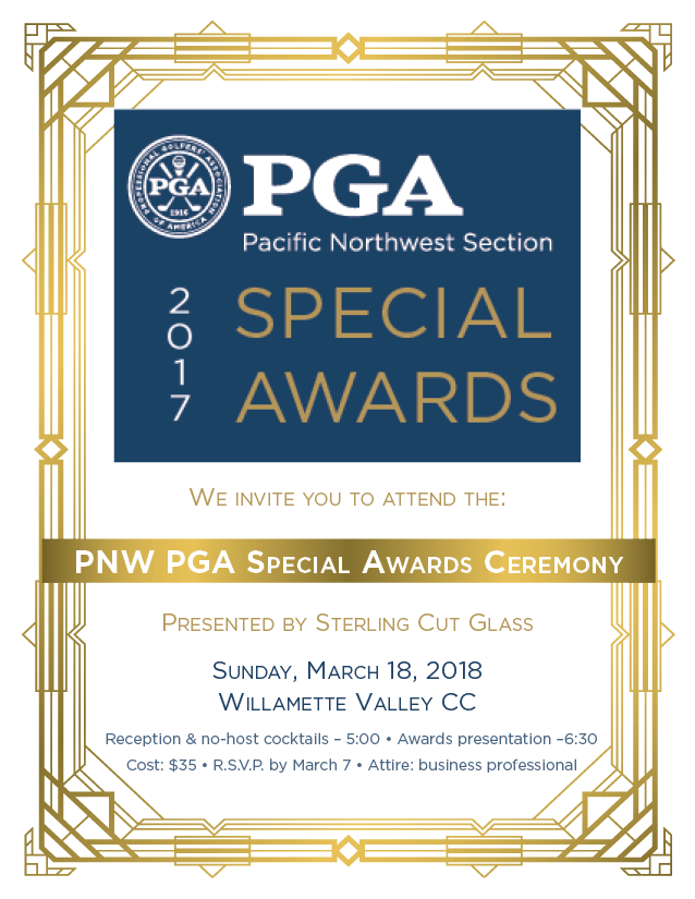 PNW PGA Special Awards Ceremony @ Willamette Valley CC | Kent | Washington | United States