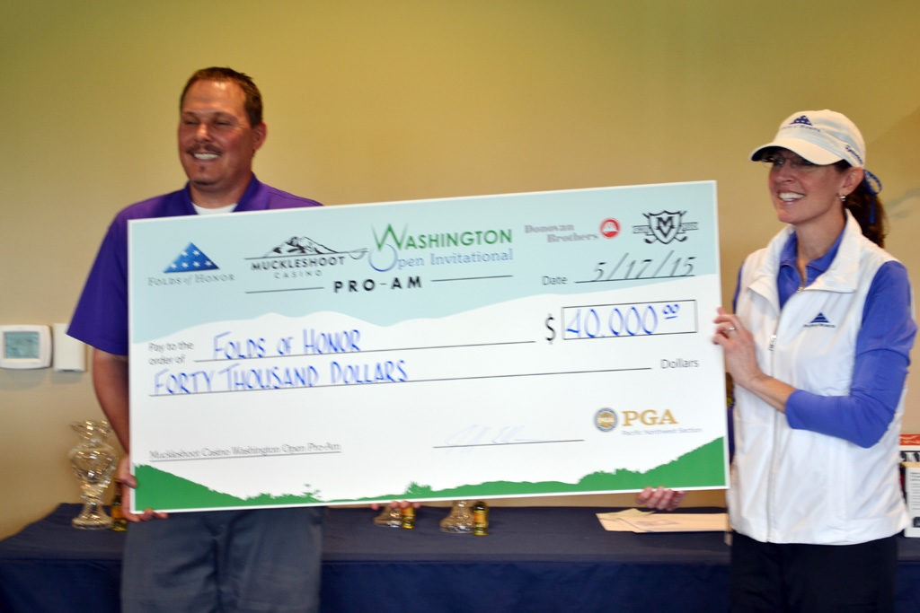 Muckleshoot Casino Washington Open Pro-Am raised $40,000 for Folds of Honor