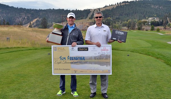 Champion Tim Feenstra (L) and Club Car Sponsor Erwin Huffer (R)
