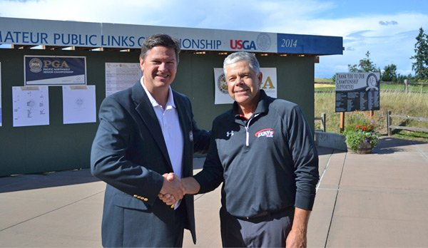 Host PGA Professional Dan Harrington and Senior Division Champion Kevin Bishop