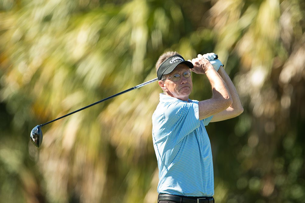 PORT ST. LUCIE, FL - NOVEMBER 20: Brent Murray hits his tee shot on the ninth hole during the final round for the Senior PGA Professional Championship held at PGA Golf Club on November 20, 2016 in Port St. Lucie, Florida. (Photo by Montana Pritchard/PGA of America)