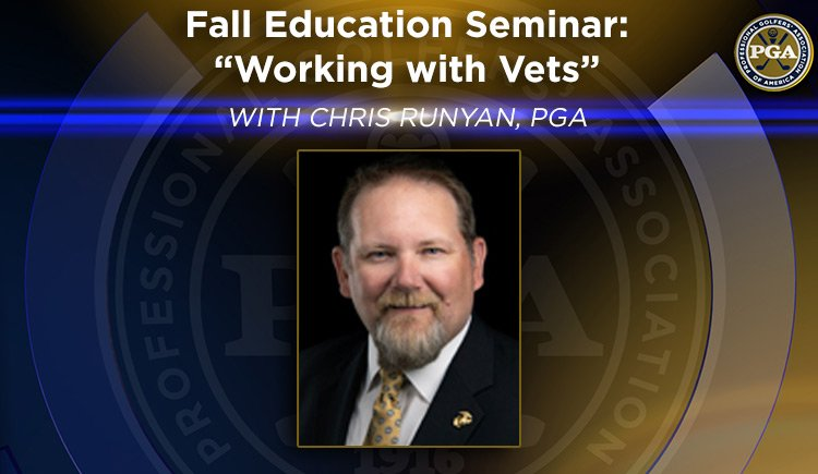 "Fall Education – ""Working with Vets"" with Chris Runyan @ PNWPGA Virtual Merchandise Show"