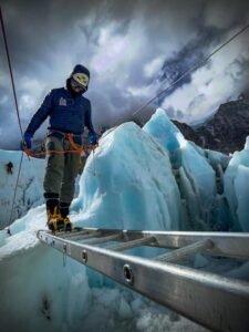 Training on Khumbu Glacier in Nepal - Steve Stevens